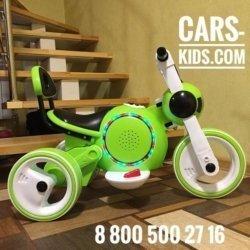Электромотоцикл Bubble зеленый (музыка, свет, бардачок)