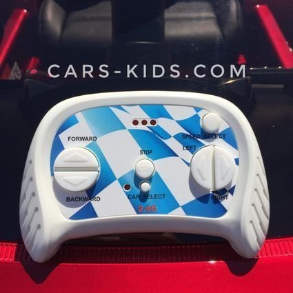 Электромобиль Maserati красный (полный привод, усиленный аккумулятор, резиновые колеса, кожа, глянцевая покраска)